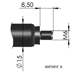 Фитинг А 16-1 резьбовое подсоединение