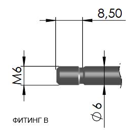 Фитинг В 16-1 резьбовое подсоединение