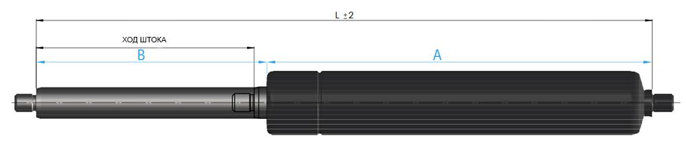 газовая пружина suspa 16-6 резьба