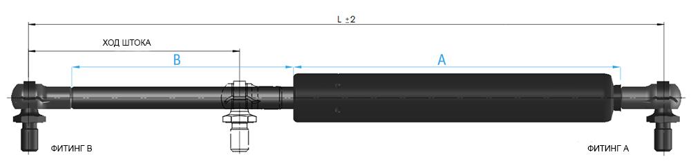 газовая пружина suspa 16-4