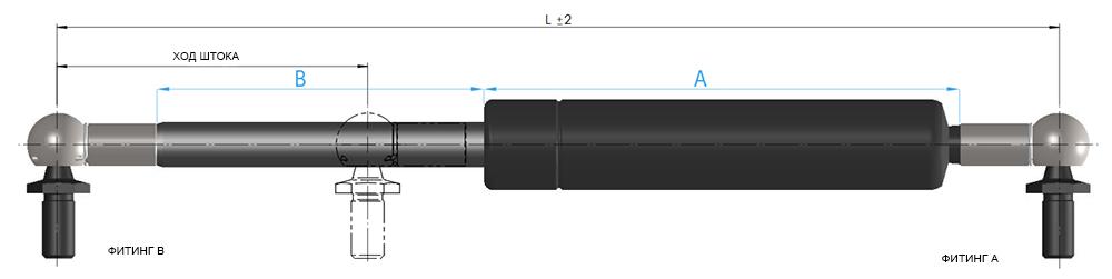 Газовые пружины suspa 16-6