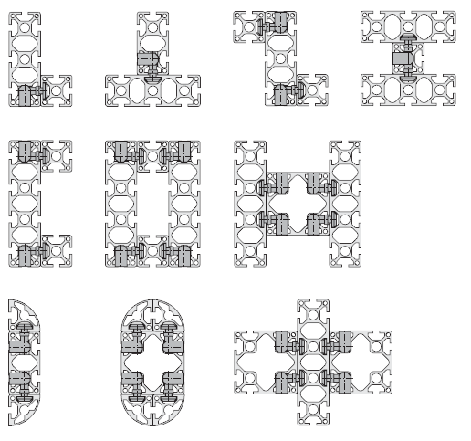 Системы конструкционного алюминиевого профиля
